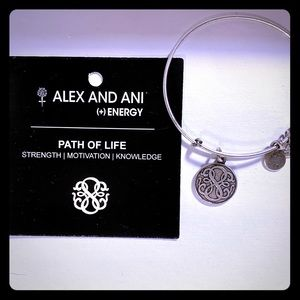 Set of 3 Alex and Ani bangle bracelets.